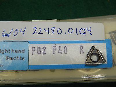 5 Komet W04 22480.0104 P02 R P40 Carbide Inserts