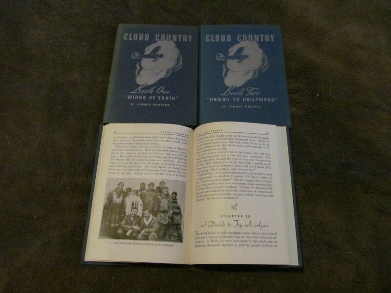 Fabulous 1936 Set Of 3 Cloud Country Books - Jimmie Mattern - Pure Oil - LOOK!!