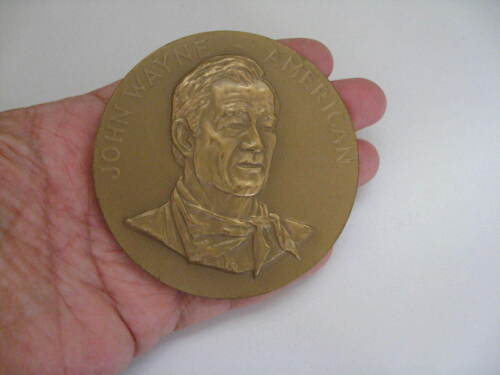 Vintage Brass JOHN WAYNE AMERICAN  Two Sided Paper Weight COLLECTIBLE