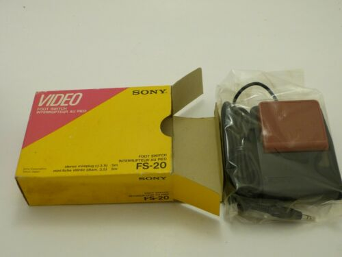 Vintage Sony FS-20 3.5 Stereo Miniplug Foot Switch NIB