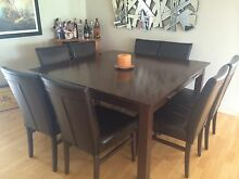 9 Piece leather dining suite Canning Vale Canning Area Preview