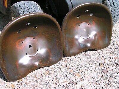 Two Deep Steel Tractor Metal Farm Machinery Stool Seat S New Old Style