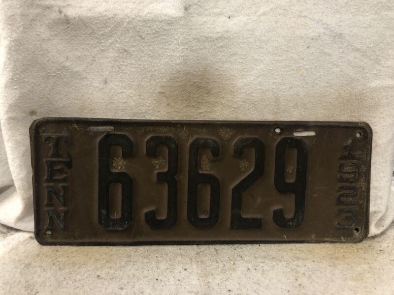 Vintage 1923 Tennessee License Plate