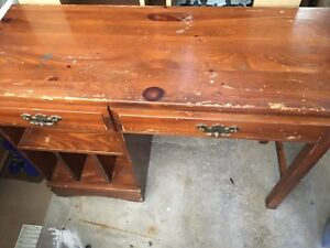 Old wood desk