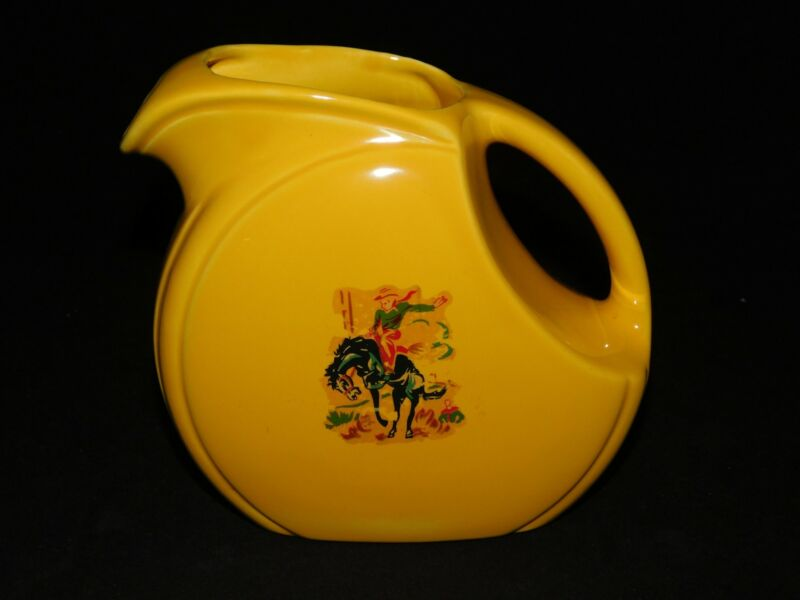 HOMER LAUGHLIN YELLOW RIVIERA JUICE PITCHER
