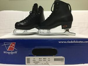 Boys LEATHER figure skates (almost new to very good)