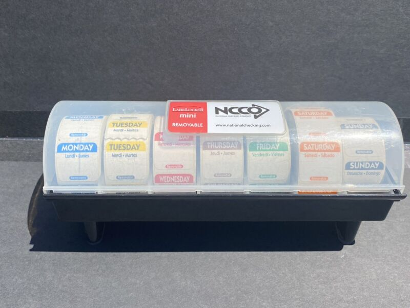7 Roll Day Dot Label Day Of The Week Food Tags with DISPENSER! Complete Fresh