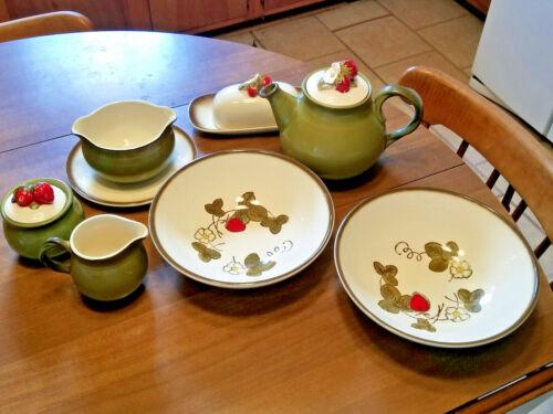 Lot of Metlox Poppytrail California Strawberry - Butter Dish - Teapot - Bowls +