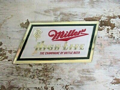 Vintage Miller High Life BAR Beer Sign Plastic GARAGE MANCAVE ADVERTISING BARN