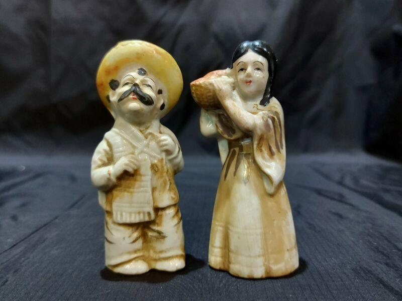 Vintage Collection Salt and Pepper Shakers Man And Women Senorita