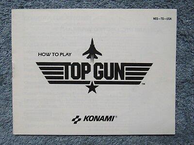 """""""Top Gun"""" manual - no game .... NES Nintendo"""