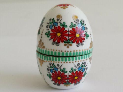 Vintage Arta Austria Austrian Handpainted Enamel Brass Egg Thimble Case Holder