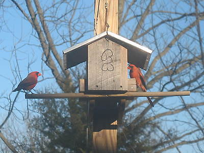 BW Aluminum Roof Bird Feeder, Cypress wood, Artist made