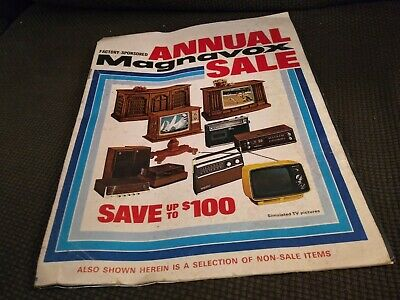 Vintage 1972 Magnavox Television Stereo Electronics Catalog Odyssey