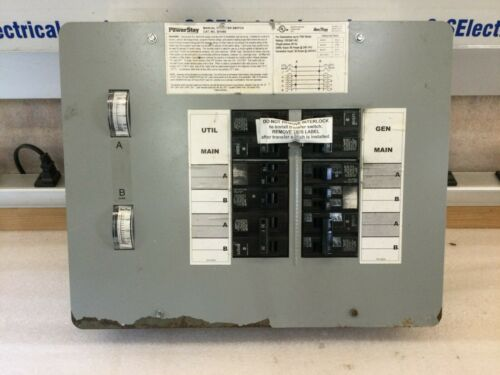 POWER STAY MANUAL TRANSFER SWITCH 301060 FOR 7500 WATT GENERATORS 30/60AMPS