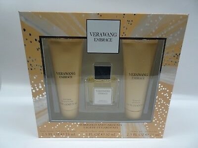 Vera Wang Embrace MARIGOLD & GARDENIA - 3pc Perfume Gift Set - EDT, Gel + Lotion (Gardenia Gift Set)