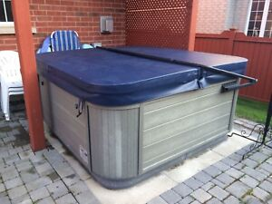 Hot tub cover, arm and stairs