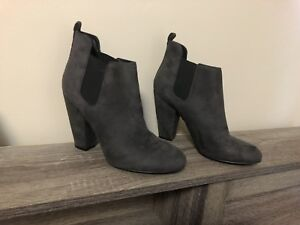 Guess grey suede heels size 10