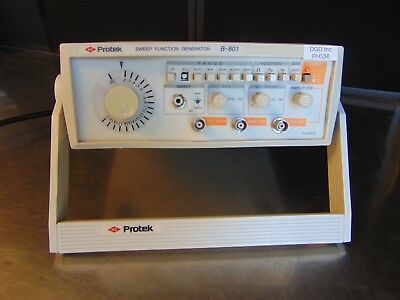 Protek B-801 Sweep Function Generator With Power Supply Tested Rh536