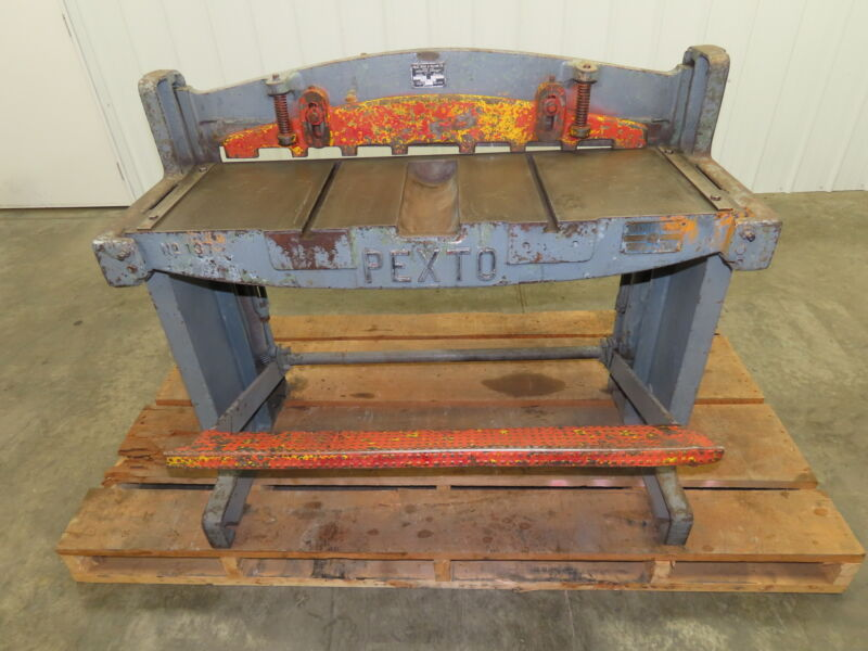 "Pexto 137-K Manual Foot Kick Sheet Metal Shear 37"" w/Back Gauge 16GA"
