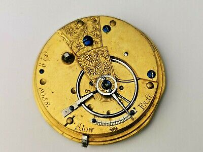Antique 8050 Key Wind Fusee Pocket Watch for Restoration, Antique Pocket Watch