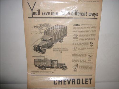 Chevrolet trucks and cars advertising
