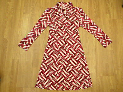 Issa 100% Silk Jersey Shirt Dress S UK 10 US 6 EU 40 Mushroom/Toadstool Design