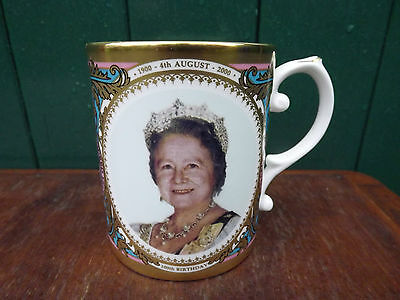Caverswall 2000 Queen Mother 100th Birthday Mug Heavily Gilded Limited Edition