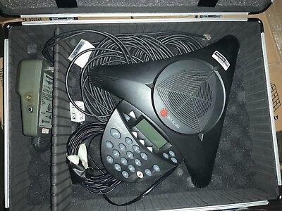 Polycom Soundstation 2 Conference Phone 2201-16000-001 W Cables 4