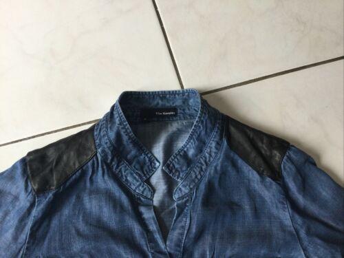Chemise en jean et cuir the kooples taille s bon etat