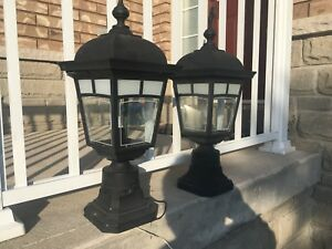 Two Outdoor post lanterns