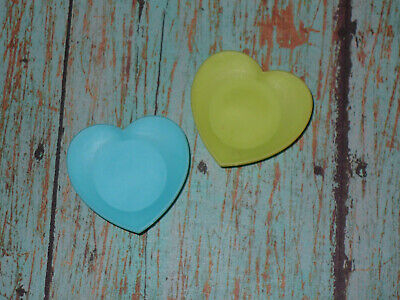 Mattel Barbie Doll Accessory Lot 2 HEART SHAPE PLATES Replacements Dream House