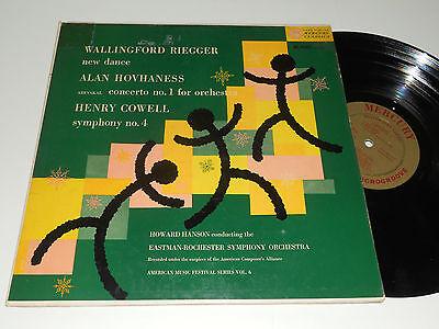 RIEGGER ALAN HOVHANESS Henry COWELL Howard Hanson Mercury MG 40005 album 1953