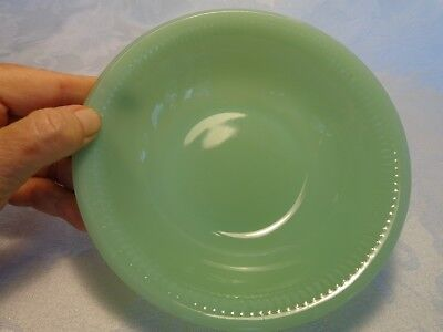 Fire King Jadeite Jadite Glass Jane Ray Cereal Bowl Vintage Marked EX COND!