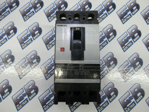 Siemens / ITE HED43B020, 20 AMP, 3 POLE, 480 VOLT Circuit Breaker- WARRANTY