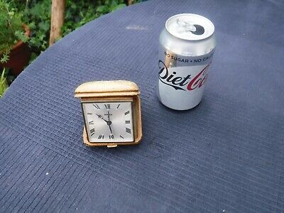SWIZA 8 Vintage Wind Up Travel Alarm Clock - Swiss Made Working