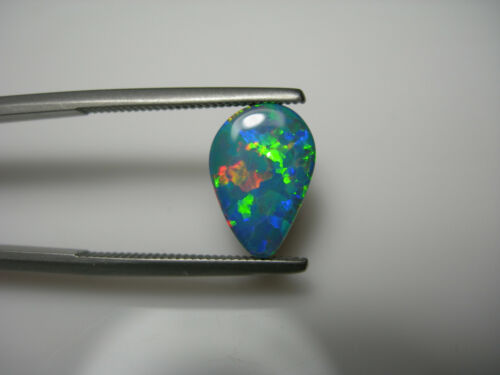 2.31ct rare Australian Lightning Ridge Opal doublet natural FIRE Play of Color