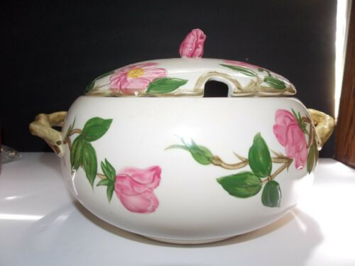 Franciscan Rose Double Handle Large Soup W/Lid Tureen made in england
