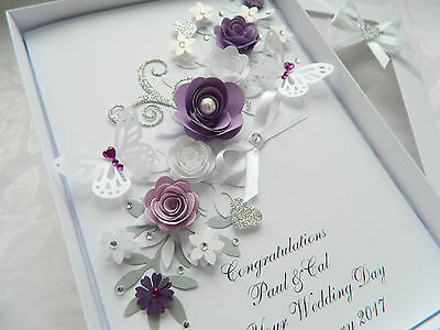 Handmade Personalised Birthday Card,Engagement, Anniversary, Wedding Day Box