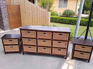 3 Piece bedroom setting ( dresser + 2 bedsides) North Narrabeen Pittwater Area Preview