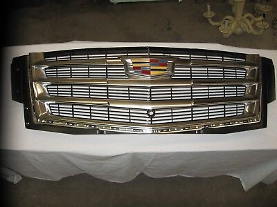 2015-2018 CADILLAC ESCALADE GRILLE Genuine GM Parts OEM 23405570 EX NICE Complet