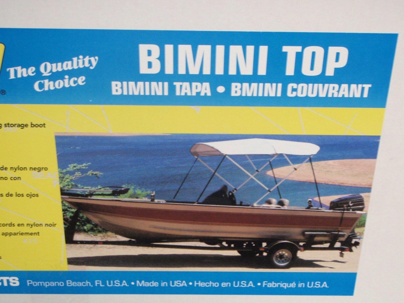 BIMINI TOP 3 BOW W/ BOOT 97861 WHITE MARINE GRADE PERFORMANCE POLY GUARD CANVAS