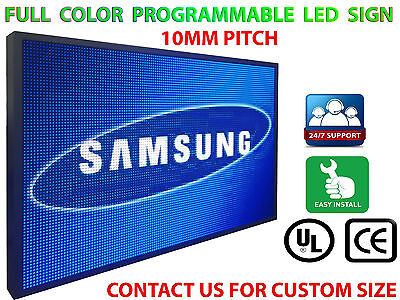 15x38 Programmable Led Sign Full Color Indoor Text Bar High Res P10 Mm Display