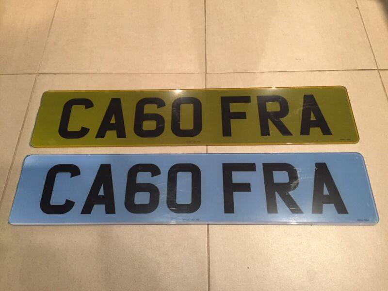 CA60+FRA+Private+Vehicle+Registration+Number+Plate
