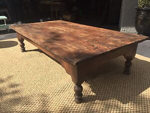 Wooden coffee table - distressed solid timber Hackett North Canberra Preview