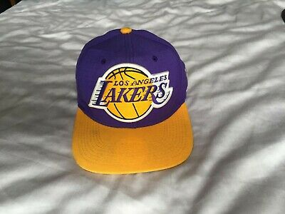 New Era NBA Los Angeles Lakers Snapback Hat Hardwood Classic 2Tone Color Cap