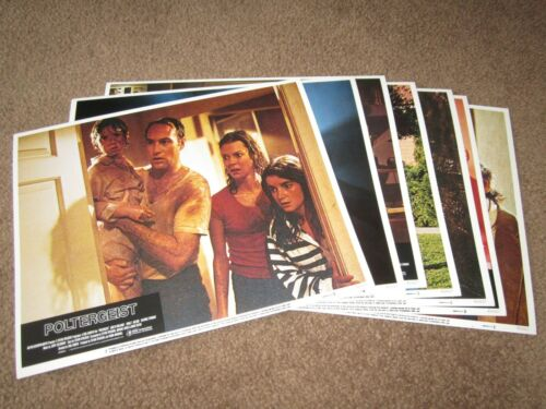 ORIGINAL > LOT of 7 Lobby Cards POLTERGEIST 1982 movie ghost 11x14