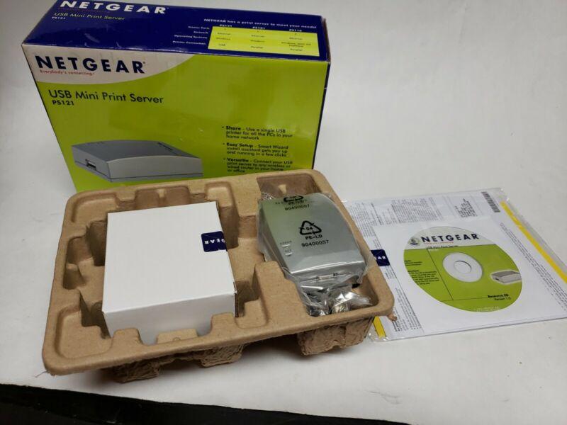 Netgear Sealed USB Mini Print Server PS121 New Sealed NIB