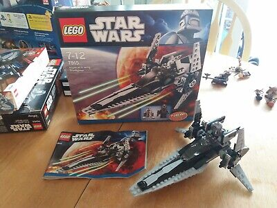 Lego Star Wars 7915 Imperial V-wing Starfighter 100% Complete Box & Instructions