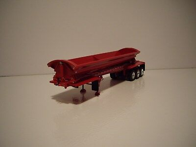 DCP FIRST GEAR 1/64 RED TRI-AXLE SMITHCO SIDE DUMP